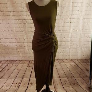 Lush Bodycon Twist Front Midi Dress
